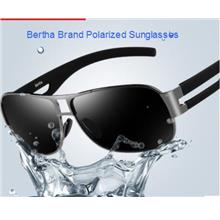 Bertha Brand Polarized UV400 Men Sunglasses Stainless Steel Frame