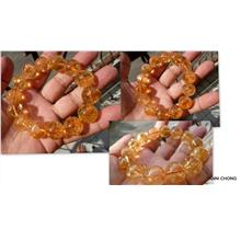 GOLDEN YELLOW CITRINE BRACELET 15 MM