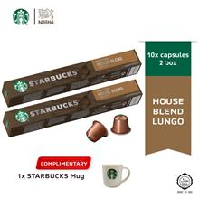 Starbucks House Blend Lungo Coffee Capsule, x2 boxes Free Espresso Mug