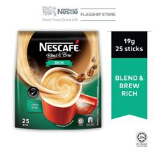 NESCAFE Blend and Brew Rich 25 Sticks 19g