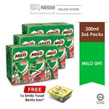 Nestle Milo UHT 6x200ml Cluster Buy 3 Free 1 Milo Bento Box