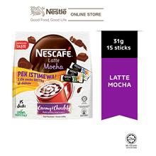NESCAFE Latte Mocha 15 Sticks 31g, Free 3 Sampling Sachet