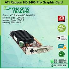 ATI Radeon HD 2400 Pro 256MB DDR2 64bit DVI TV-Out Graphic Card