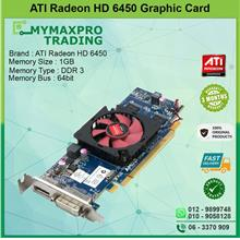 ATI Radeon HD 6450 512MB DDR3 64bit DVI Display Port Graphic Card