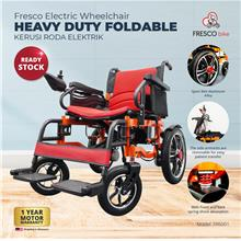 Fresco Electric Wheelchair Heavy Duty Foldable (Red Seat)