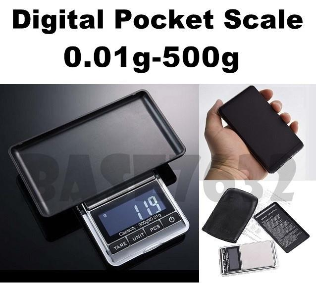 0.01 - 500 0.01g -  500g Digital Pocket  Jewelry Weighing Scale