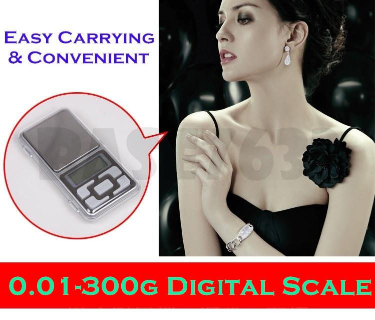 0.01g - 300g  Digital Portable Pocket Jewelry Weighing Scale