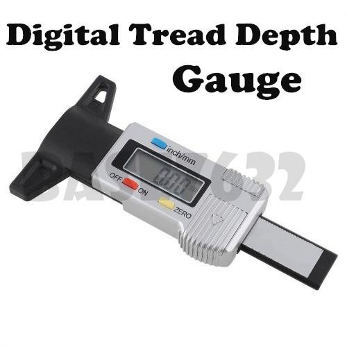 0-25.4mm Digital Depth Caliper Tyre Tire Tread Guage Shoe Deep Measure
