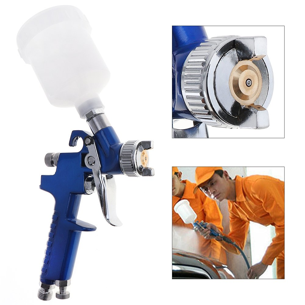 0.8MM Nozzle H-2000 HVLP Spray Gun Mini Air Paint Spray Guns Airbrush