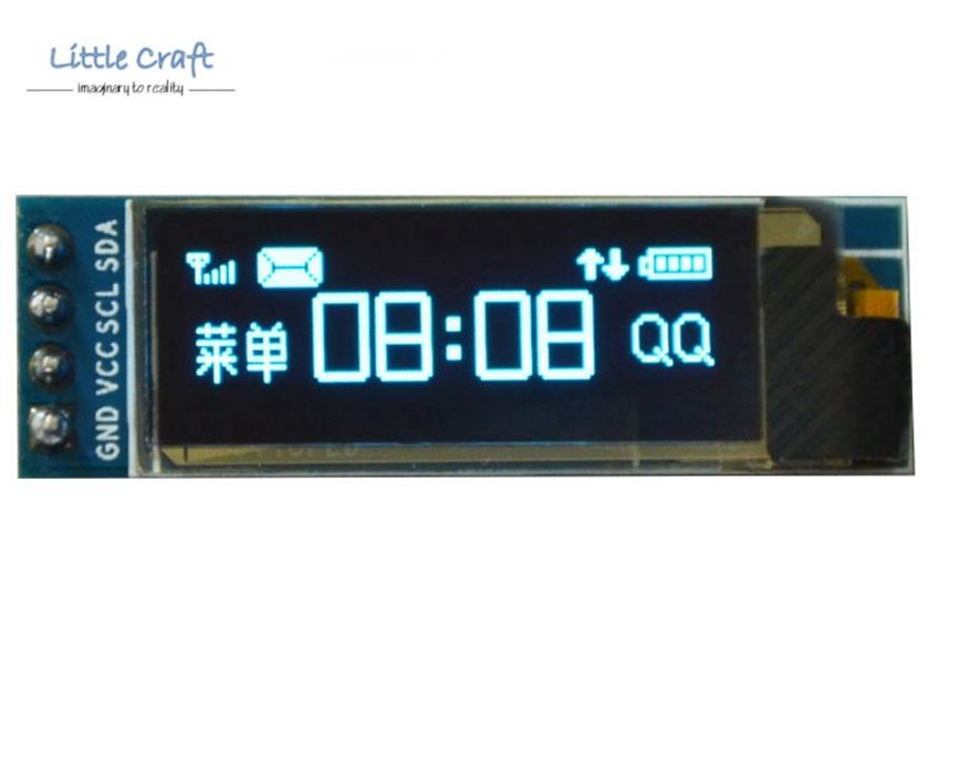 0.91' I2C Graphic OLED Display 128x32 Blue Backlight