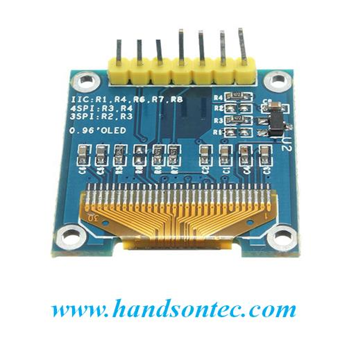 0.96″ OLED Module 128x64 Yellow/Blue – SPI/I2C Interface