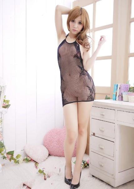 00054 Best-Selling Jacquard Hollow See-Through Mesh Night Dress