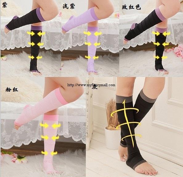 00084 Colorful Fat Burning Preventing Varices Sleep Five Thin Leg Sox