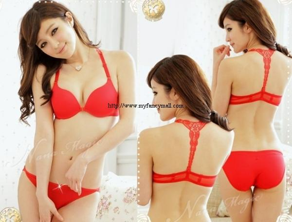 00135 Korean Style Seamless Push Up Bra Set