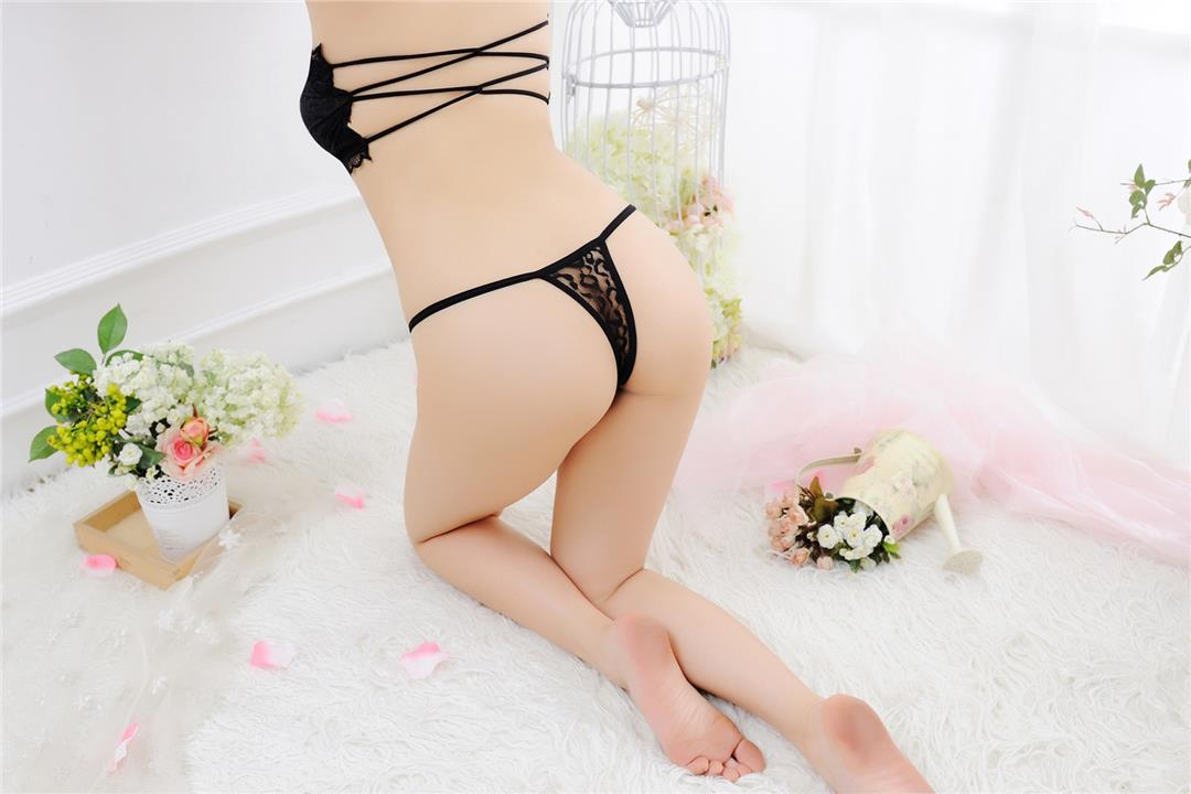00344 Delicate Embroidered Flower G String