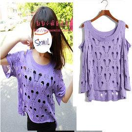 00440 Korean Fashion Hollow Heart Knit Blouse
