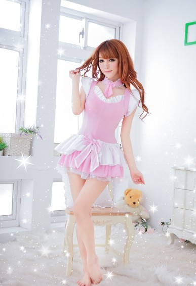 00525 Cosplay Role-playing Models Nightwear Lingerie Three-piece