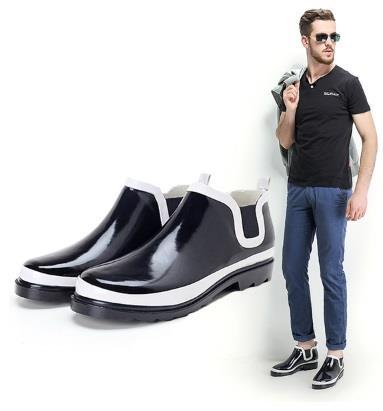 01 Fashionable Waterproof Rain Boots Shoes Men Women Fishing Sport