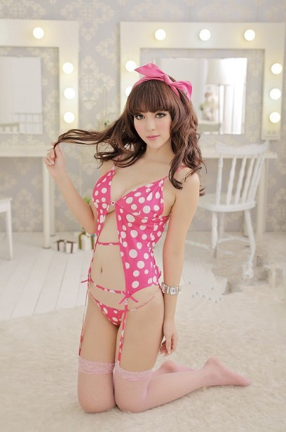 01273 Hollow vest pajamas Lingerie Nightwear + Thong