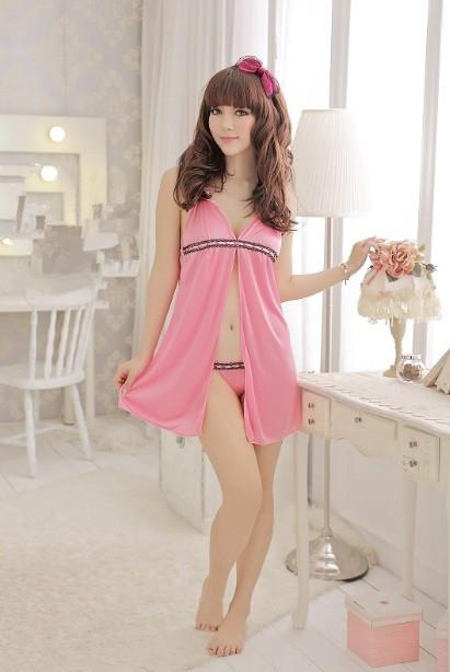 01288 Sexy Sleep Lingerie Underwear Pyjamas Nightwear Skirt+T