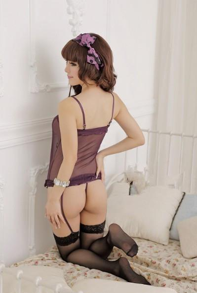 01480 Sexy Sleep Lingerie Underwear Pyjamas Nightwear Skirt+T