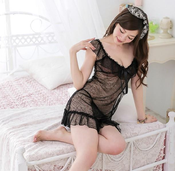 01618 Sexy Sleep Lingerie Underwear Pyjamas Nightwear Skirt+T