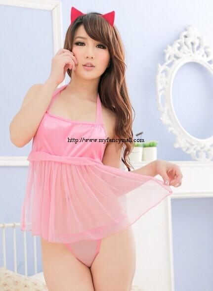 01700 Sexy Sleep Lingerie Pyjamas Nightwear sleepwear Skirt+T