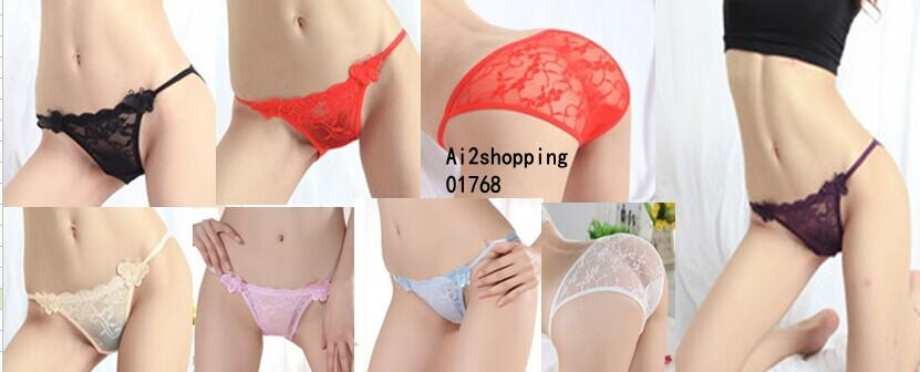 01768New fine lace sexy ladies panties butterfly Pant