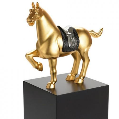017837E Horse Figurine  24K gold gilted horse