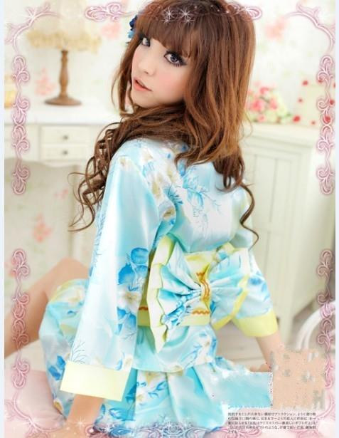 01887 Japanese Sexy Seductive Four-Piece Japanese Kimono Silk Fabric