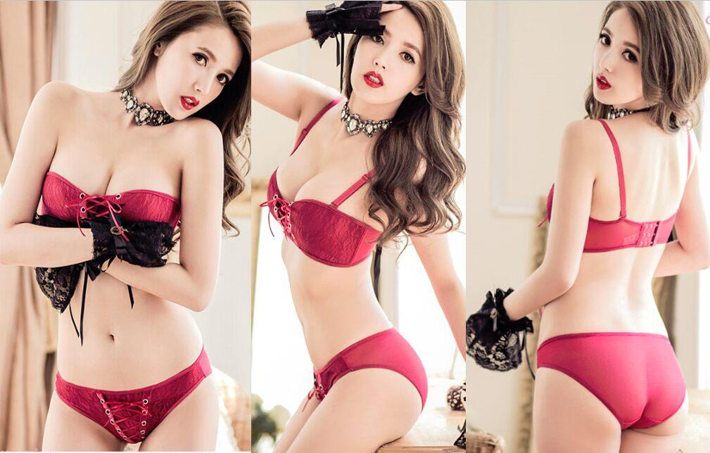 7d8b8b19bfc8b 02285 Korean Style Embroidered Lace Push Up Bra Set. ‹ ›