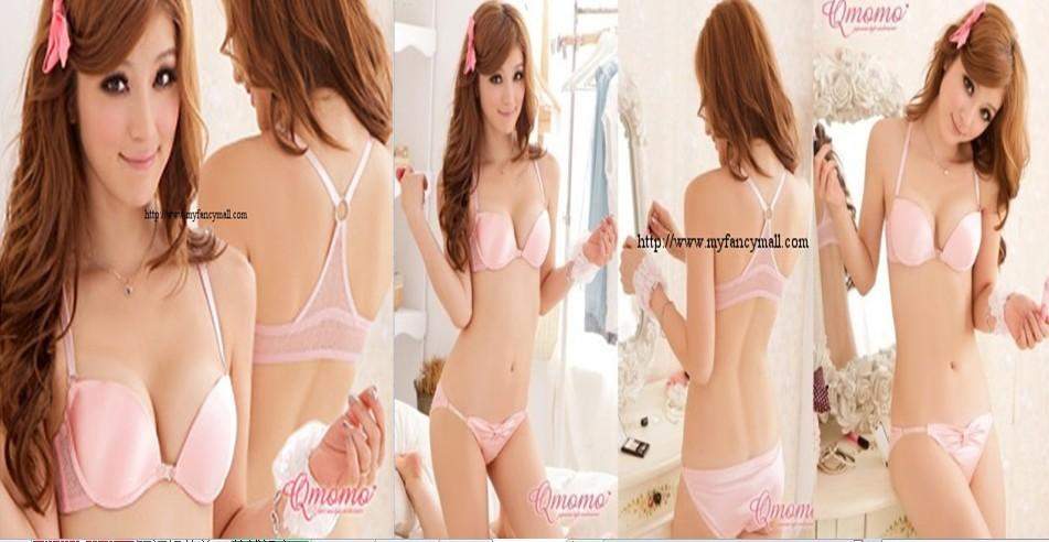 02349 Korean Style Embroidery Lace Push Up Bra Set