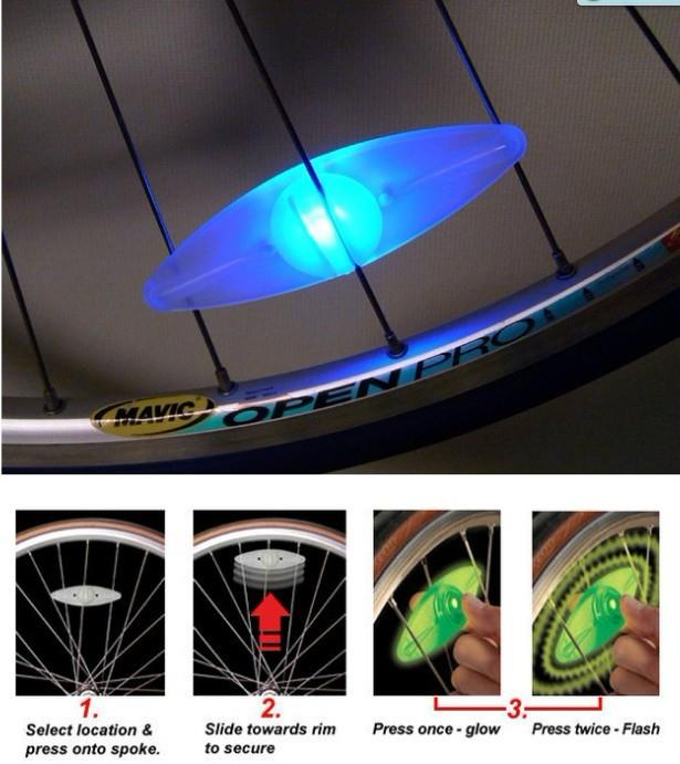 02976 Bicycle At Night Must-Round Silicone Wire Lamp Guard