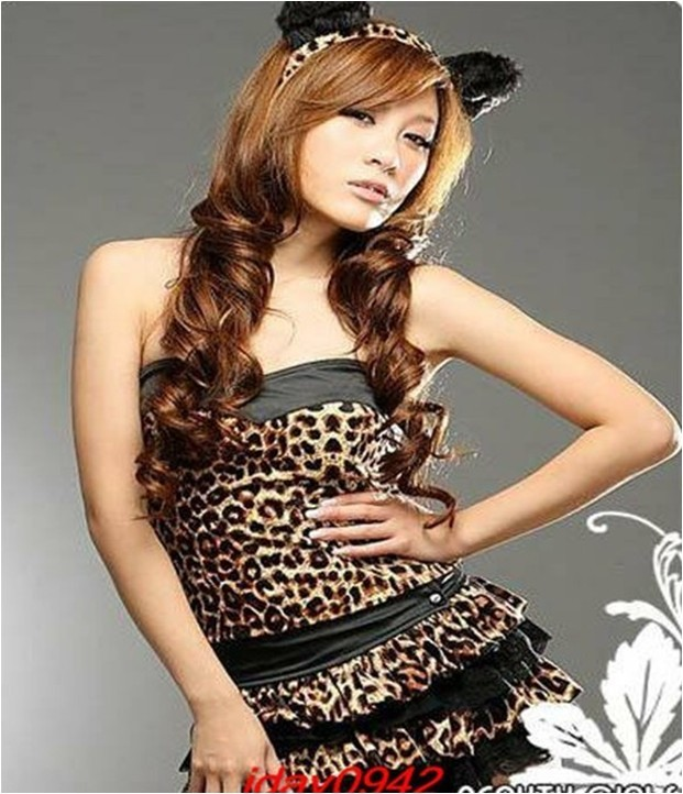 03144 Personalized Three-Piece Leopard Cosplay Party Set