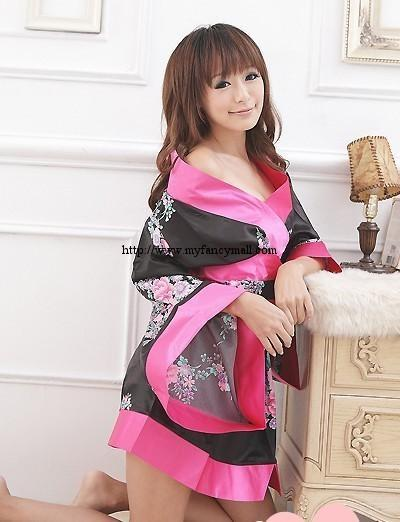 03199 Cosplay Seductive Three-Piece Japanese Kimono Silk Fabrice