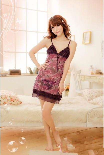 03250 Sleep Lingerie Underwear Pyjamas Nightwear Skirt +Panty