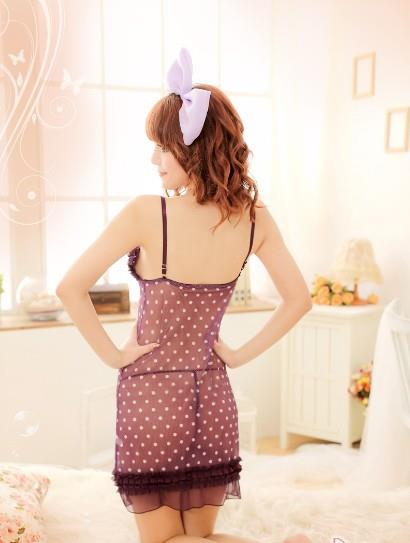 03253 Sleep Lingerie Underwear Pyjamas Nightwear Skirt +Panty
