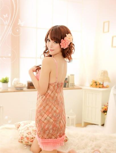 03254 Sleep Lingerie Underwear Pyjamas Nightwear Skirt+T