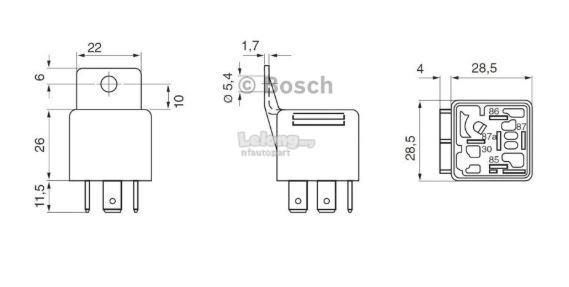 0332019150 Original Bosch Relay 5 PIN
