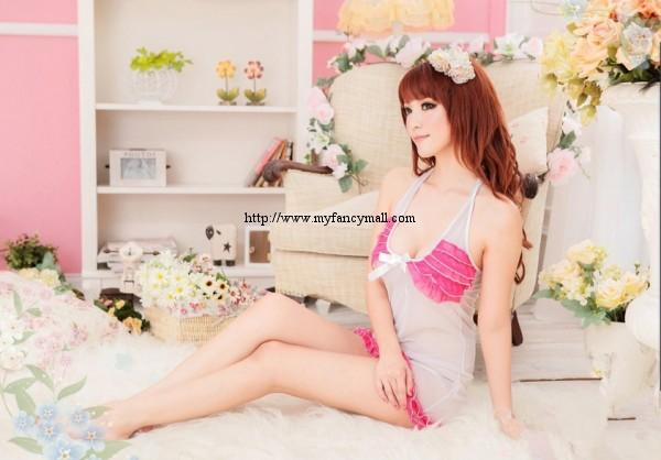03445 Sleep Lingerie Underwear Pyjamas Nightwear Skirt +Panty