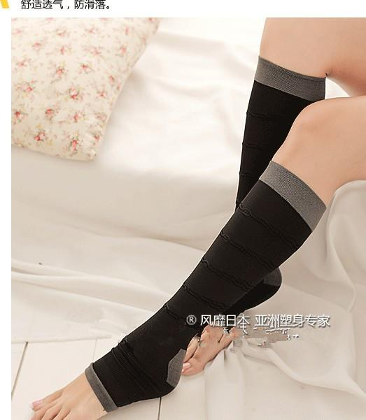 03783 Japan Slimming Tube Massage Shaping Stovepipe Socks(Boxed)