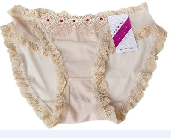 03874 Delicate See-Through Gauze Embroidered  Panties