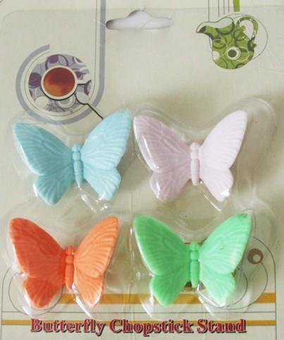 03931  Korean Version Of The Butterfly Silicone Chopsticks (4 Pack)