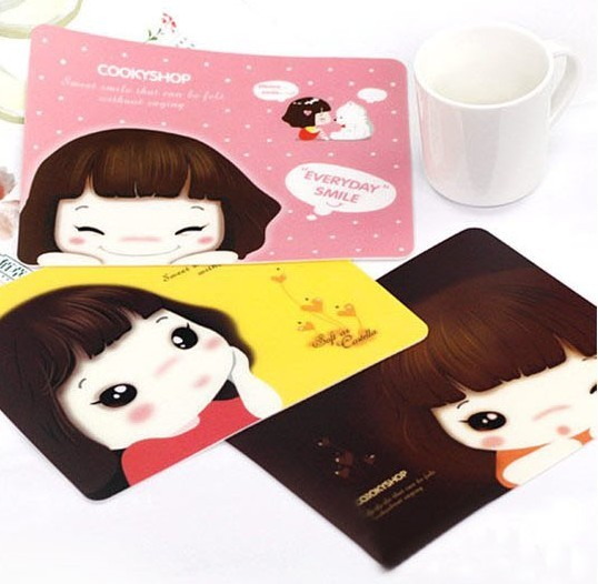 03982 Korean version of the new cute girl mouse pad