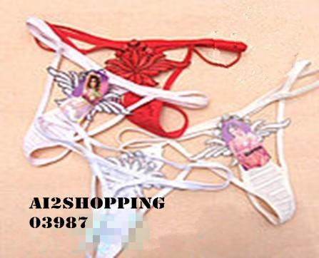 03987Ladies exquisite embroidery fun sexy hollow thong