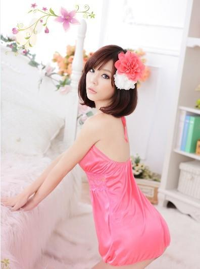 04016 Sleep Lingerie Underwear Pyjamas Nightwear Skirt +Panty