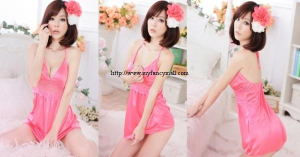 04016 taiwan Sexy Sleep Lingerie Underwear Pyjamas Nightwear Skirt+T