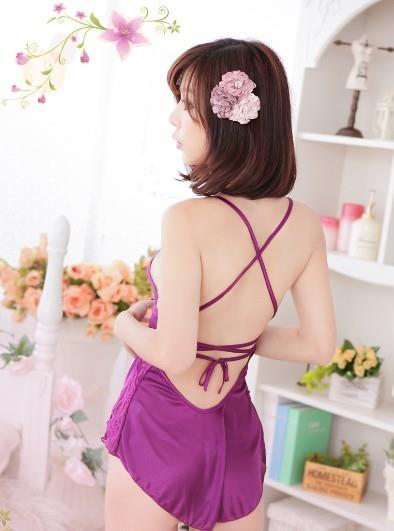 04024 Sexy Sleep Lingerie Underwear Pyjamas Nightwear Skirt+T