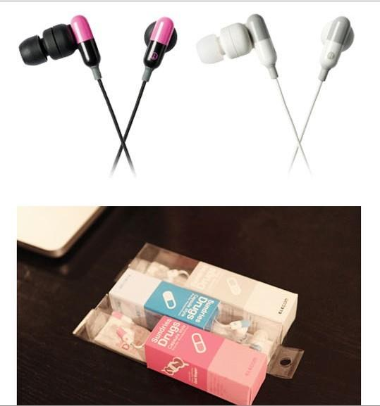04213 Korean Version Of The Candy-Colored Pills Creative Headset
