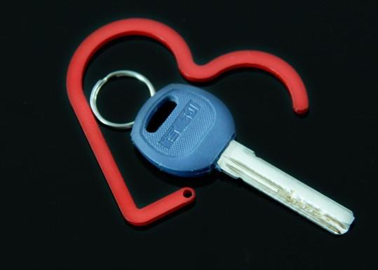 04220 Love Green Paint Quality Iron Hook Key
